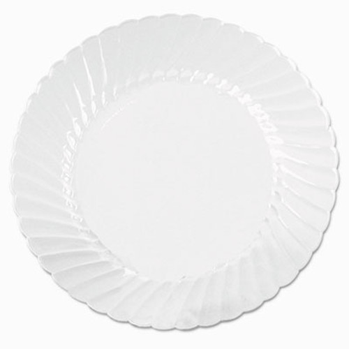 WNA Classicware Plates  Plastic  10 25 in  Clear  18 Bag  8 Bag Carton (WNA CW10144)