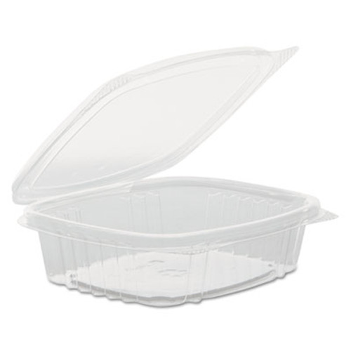 Genpak Clear Hinged Deli Container, APET, 8 oz, 5 3/8 x 4 1/2 x 2, 200/Carton (GNP AD08F)