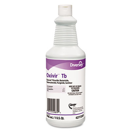 Diversey Oxivir TB One-Step Disinfectant Cleaner  32oz Bottle  12 Carton (DVO 4277285)