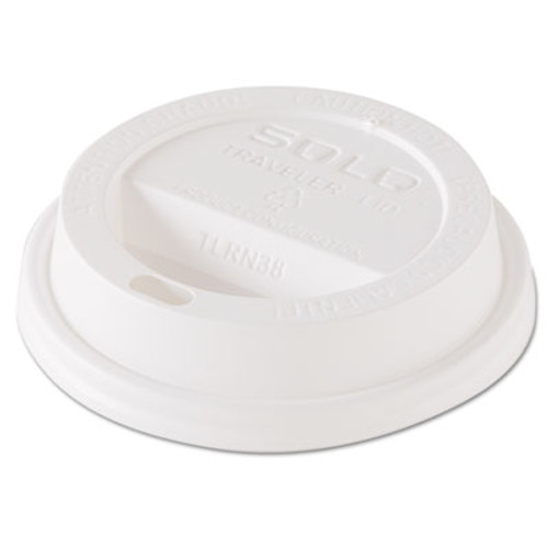 Dart Traveler Dome Hot Cup Lid  Fits 8oz Cups  White  100 Pack  10 Packs Carton (SCC TL38R2)