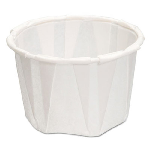 Genpak Paper Portion Cups, 1.25 oz., White, 250/Bag, 20 Bags/Carton (GNP F125)