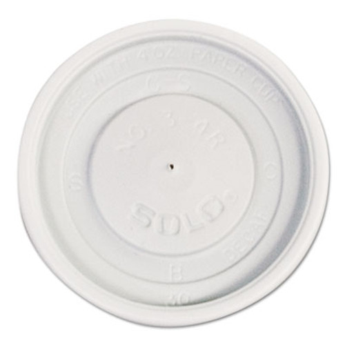 SOLO Cup Company Polystyrene Vented Hot Cup Lids, 4oz Cups, White, 100/Pack, 10 Packs/Carton (SCC VL34R-0007)