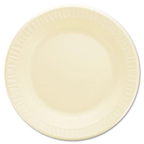 """Dart Quiet Classic Laminated Foam Dinnerware, Plate, 9"""" dia, Honey, 500/Carton (DCC 9PHQR)"""