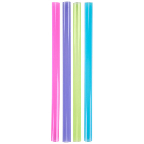 "SOLO Cup Company Unwrapped Colossal Neon Straws, 8.5"", Purple/Green/Red/Blue, 500/Box, 8BX/CT (SCC D85AN)"