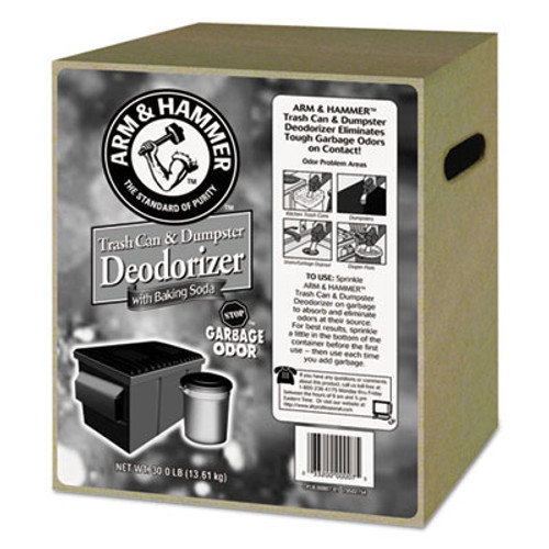 Arm & Hammer Trash Can   Dumpster Deodorizer with Baking Soda  Unscented  Powder  30 lb (CDC 33200-00007)