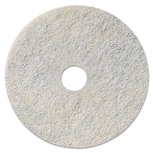 3M Niagara Natural White Burnishing Pad  27  Diameter  5 Carton (MCO 35085)