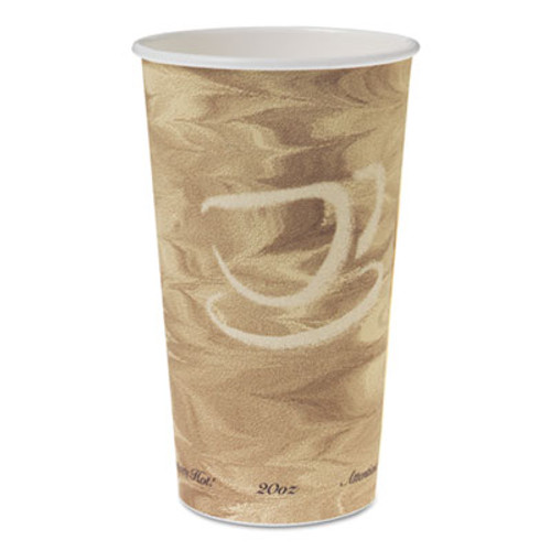 Dart Single Sided Poly Paper Hot Cups  20 OZ  Mistique design  40 Bag  15 Bags Carton (SCC 420MS)