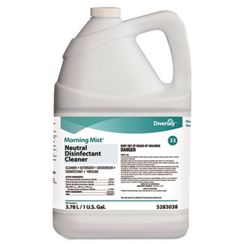 Diversey Morning Mist Neutral Disinfectant Cleaner  Fresh Scent  1gal Bottle (DVO 5283038)