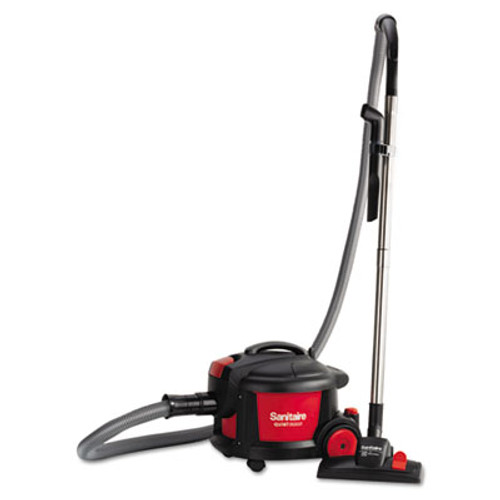"""Sanitaire Quiet Clean Canister Vacuum, Red/Black, 9.0 Amp, 11"""" Cleaning Path (EUR SC3700A)"""
