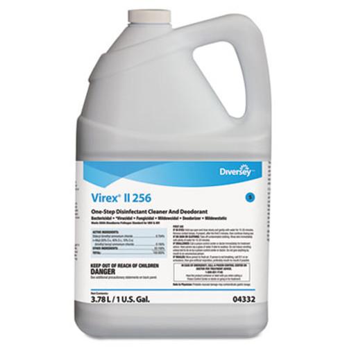 Diversey Virex II 256 One-Step Disinfectant Cleaner Deodorant Mint  1 gal  4 Bottles CT (DVO 04332)