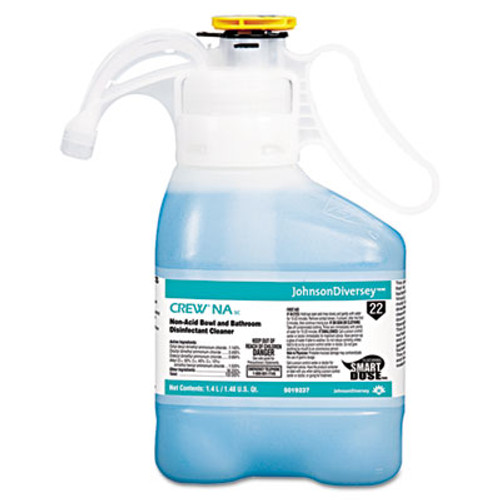 Diversey Crew Non-Acid Bowl   Bathroom Disinfectant Cleaner  Floral  47 3oz  2 Carton (DVO 5019237)