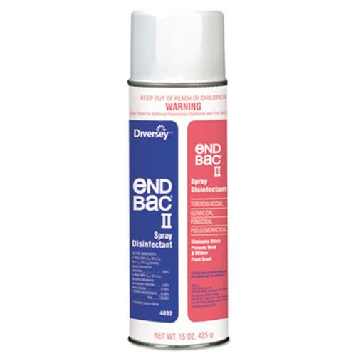 Diversey End Bac II Spray Disinfectant  Unscented  15 oz Aerosol  12 Carton (DVO 04832)
