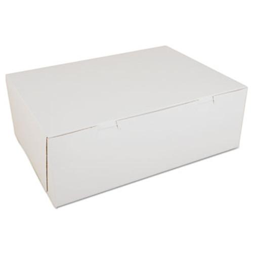 SCT Non-Window Bakery Boxes  Paperboard  14 1 2w x 10 1 2d x 5h  White  100 Carton (SCH 1005)