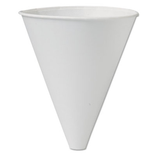 SOLO Cup Company Bare Eco-Forward Treated Paper Funnel Cups, 10oz. White, 250/Bag, 4 Bags/Carton (SCC 10BFC)