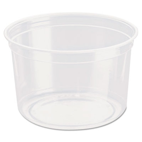 Dart Bare Eco-Forward RPET Deli Containers  16 oz  Clear  500 Carton (SCC DM16R)