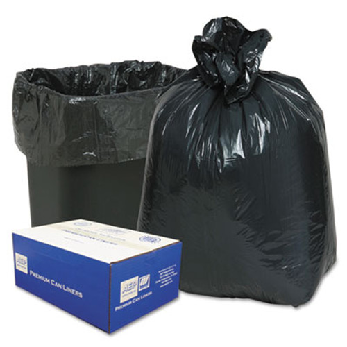 Classic Linear Low-Density Can Liners  10 gal  0 6 mil  24  x 23   Black  500 Carton (WEB 242315B)