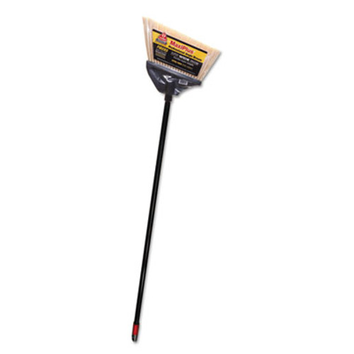 "O-Cedar Commercial Maxi-Angler Broom, Polystyrene Bristles, 51"" Handle, Black, 4/Carton (DVO 91351)"