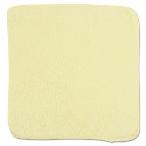Rubbermaid Commercial Microfiber Cleaning Cloths  12 x 12  Yellow  24 Bag (RCP 1820580)