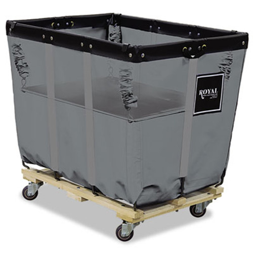 Royal Basket Trucks Spring Lift, 22 x 32, 12 Bushel, Vinyl/Steel, Blue (RBT R12-GGX-SLN)