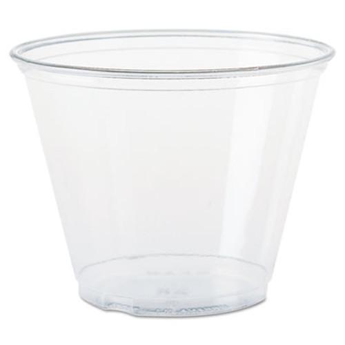 SOLO Cup Company Ultra Clear Cups, Squat, 9 oz, PET, 50/Bag, 1000/Carton (DCC TP9R)
