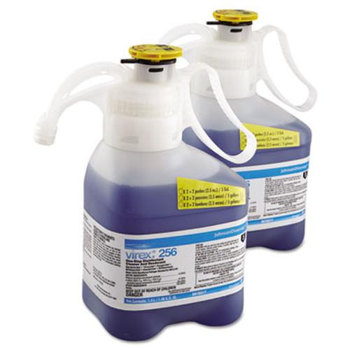 Diversey Virex II 256 One-Step Disinfectant Cleaner Deodorant  Mint  1 4L  2 Bottles CT (DVO 5019317)