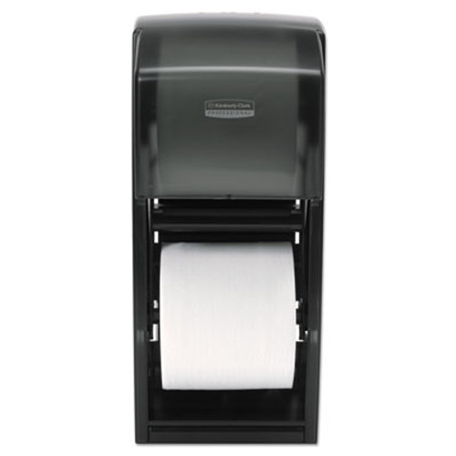 Kimberly-Clark Professional* Coreless Double Roll Bath Tissue Dispenser, 6 6/10 x 6 x13 6/10, Plastic, Smoke (KCC 09021)