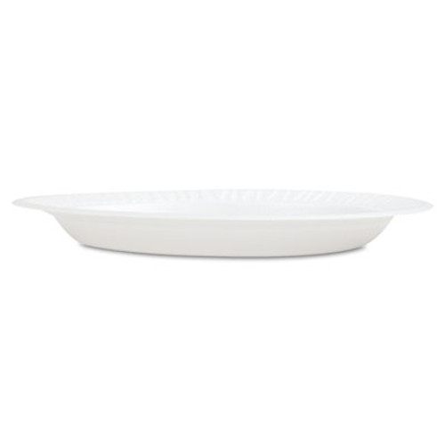 "Dart Concorde Foam Plate, 9"" dia, White, 125/Pack, 4 Packs/Carton (DCC 9PWCR)"