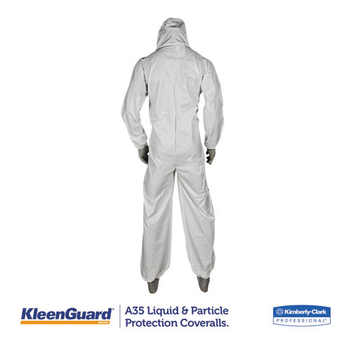 KleenGuard A35 Coveralls  Hooded  2X-Large  White  25 Carton (KCC 38941)