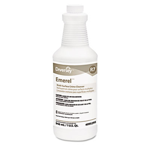 Diversey Emerel Multi-Surface Creme Cleanser  Fresh Scent  32oz Bottle  12 Carton (DVO 4995295)