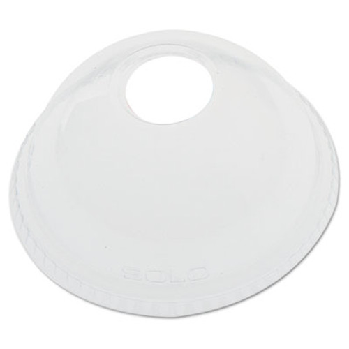 Dart Ultra Clear Dome Cold Cup Lids f 16-24 oz Cups  PET  100 Pack (DCC DLR626)