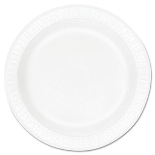 "Dart Concorde Foam Plate, 10 1/4"" dia, White, 125/Pack, 4 Packs/Carton (DCC 10PWCR)"