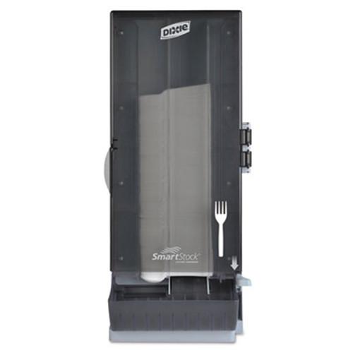 Dixie SmartStock Utensil Dispenser  Fork  10  x 8 78  x 24 75   Smoke (DXESSFPD120)