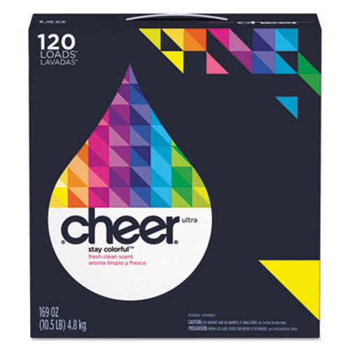 Cheer Powder Laundry Detergent, Fresh Clean Scent, 169oz Box, 2/Carton (PGC 84929)