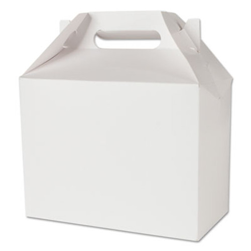SCT White Carryout Boxes, 8 7/8w x 4 7/8d x 3 1/2h, Paperboard, 250/Carton (SCH 2729)