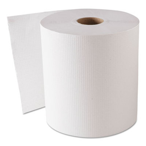 GEN Hardwound Roll Towels  White  8  x 800 ft  6 Rolls Carton (GEN 1820)