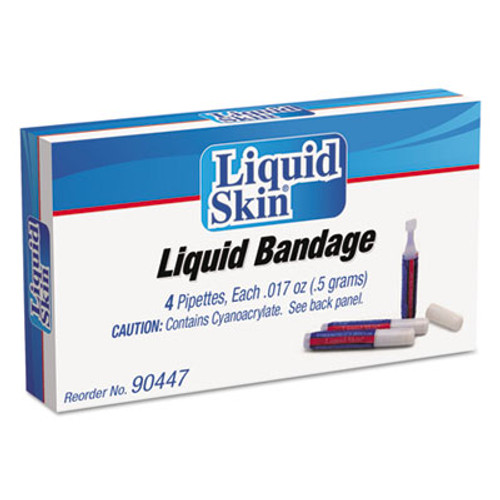 PhysiciansCare by First Aid Only Liquid Bandage  0 017 oz Pipette  4 Box (ACM90447)