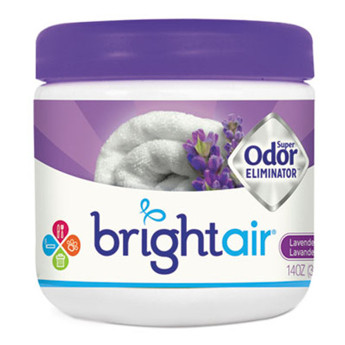 BRIGHT Air Super Odor Eliminator, Lavender and Fresh Linen, Purple, 14oz (BRI 900014CT)