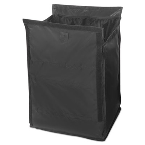 Rubbermaid Commercial Executive Quick Cart Liner, Small, 12 4/5 x 16 x 14 1/2, Black (RCP 1902703)