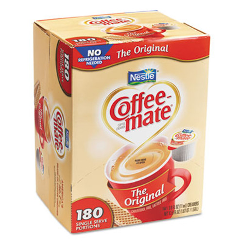 Coffee mate Liquid Coffee Creamer  Original  0 38 oz Mini Cups  180 Carton (NES 753032)