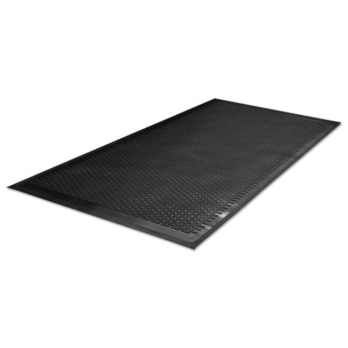Guardian Clean Step Outdoor Rubber Scraper Mat  Polypropylene  48 x 72  Black (MLL14040600)