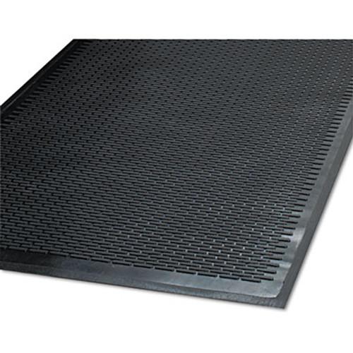 Guardian Clean Step Outdoor Rubber Scraper Mat  Polypropylene  48 x 72  Black (MLL14040600)
