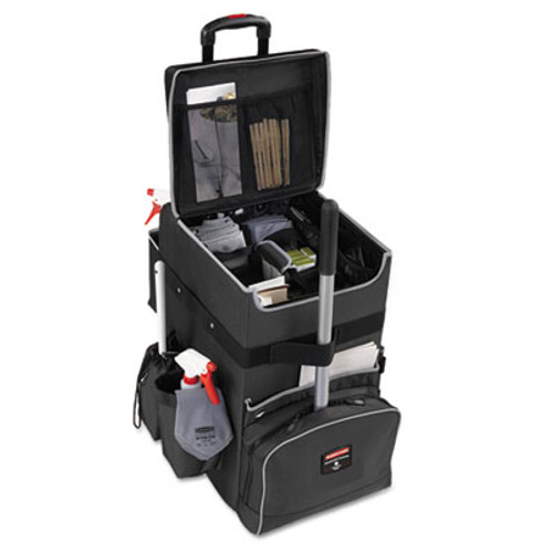 Rubbermaid Commercial Executive Quick Cart  Large  14 25w x 16 5d x 25h  Dark Gray (RCP 1902465)