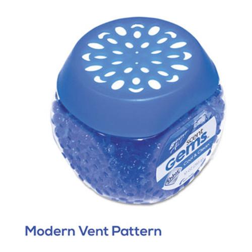 BRIGHT Air Scent Gems Odor Eliminator  Cool and Clean  Blue  10 oz Gel (BRI 900228CT)