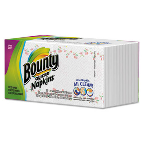 Bounty Quilted Napkins, 1-Ply, 12 1/10 x 12, White, 200/Pack (PGC 34885CT)