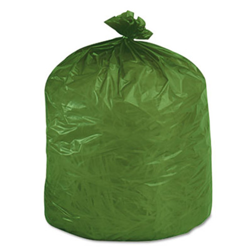 Stout by Envision Controlled Life-Cycle Plastic Trash Bags  33 gal  1 1 mil  33  x 40   Green  40 Box (STOG3340E11)