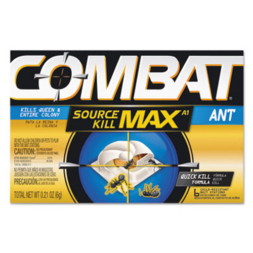 Combat Source Kill MAX Ant Killing Bait, 0.21 oz each, 6/PK, 12 PK/CT (DIA 55901)