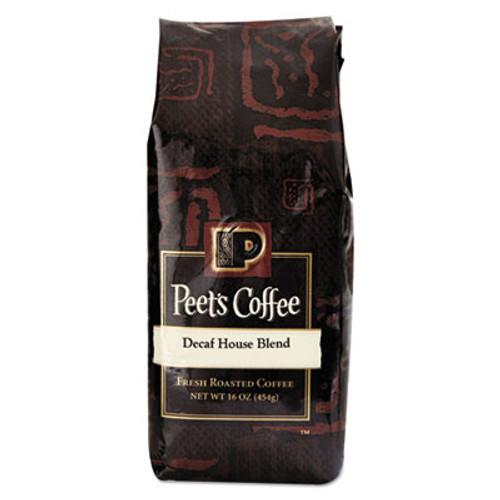 Peet's Coffee & Tea Bulk Coffee  House Blend  Decaf  Ground  1 lb Bag (PEE501487)