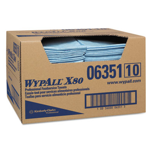 WypAll* X80 Foodservice Paper Towel, 13 1/2 x 24, Blue, 150/Carton (KCC 06351)