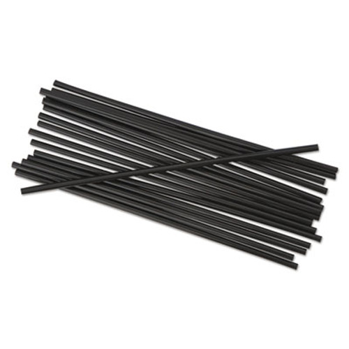 Boardwalk Single-Tube Stir-Straws  5 1 4   Black  1000 Pack  10 Carton (BWK STRU525B10)