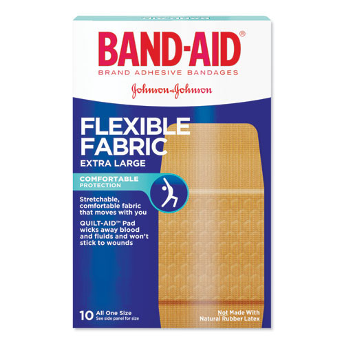 BAND-AID Flexible Fabric Extra Large Adhesive Bandages  1 25  x 4   10 Box (JON 5685)